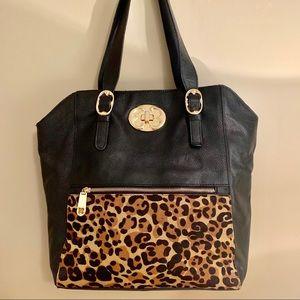 Emma Fox Leather Shoulder Bag